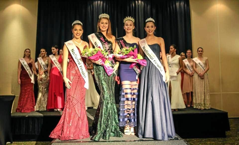 Gladstone's Anelia Du Plessis Miss Teen 2018 winner with junior winner and runners-up announced at the national finals in Townsville on 26/05/2018