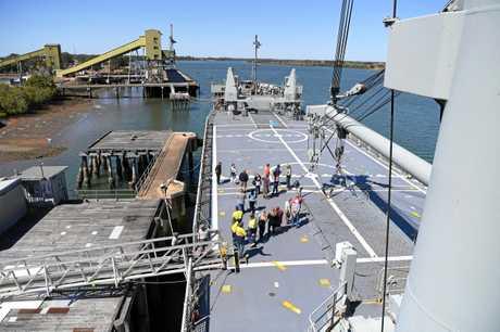 ON BOARD: Community members tour the ex-HMAS Tobruk.
