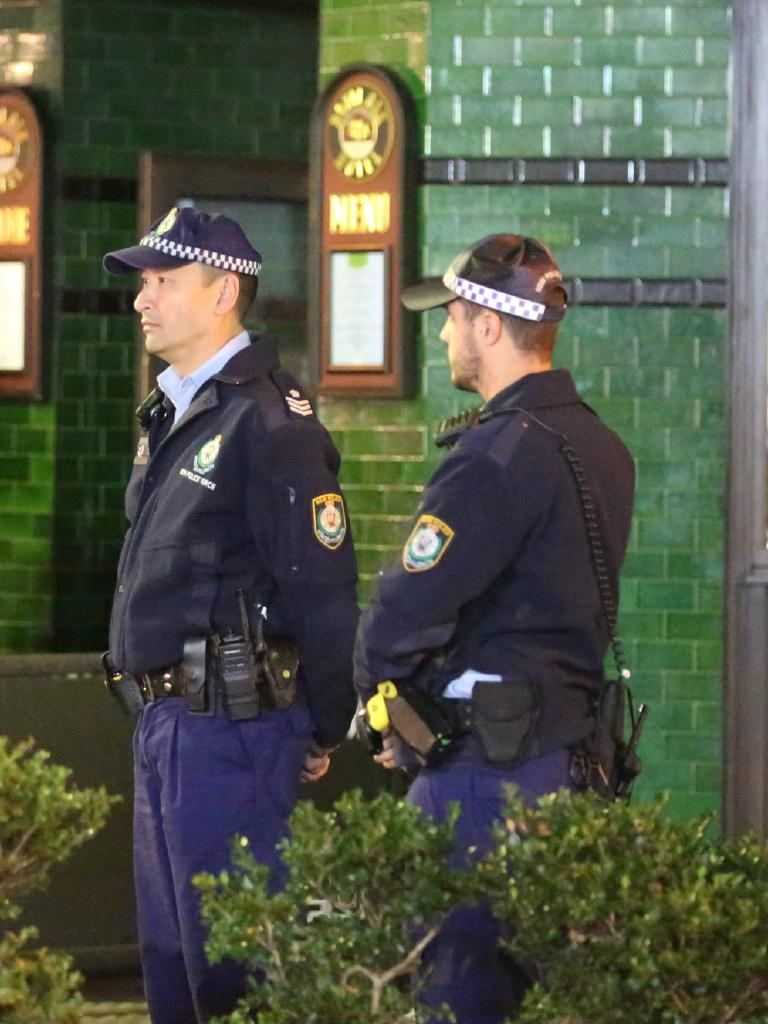 Police on the beat in Sydney. Picture: Steve Tyson
