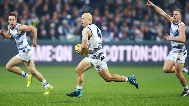 Ablett and the Cats took their time shrugging Carlton. Pic: Getty Images