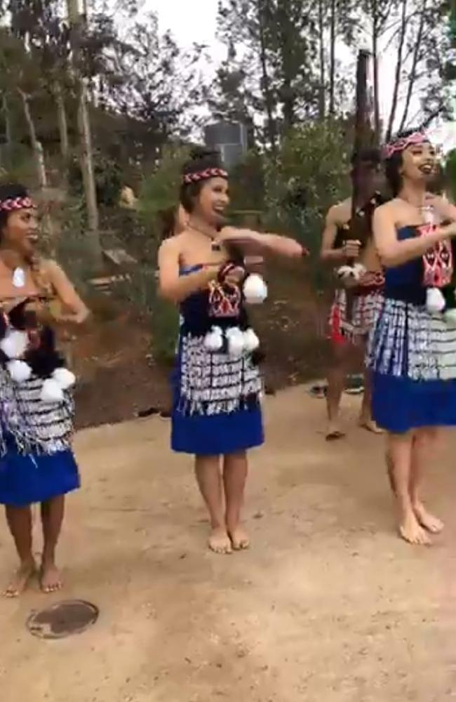 San Diego Zoo use what they termed Maori dancers at the opening of a new Australian exhibit at the San Diego Zoo.