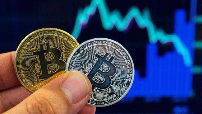 A Bitcoin is worth just under $10,000. Picture: AFP / Jack guez