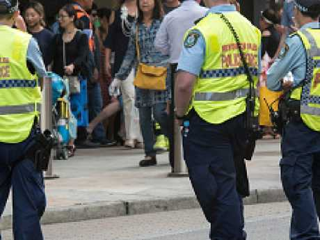NSW officers patrolling Sydney. Picture: James D. Morgan/Getty Images