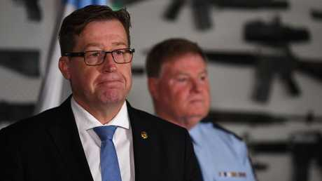 NSW Police Minister Troy Grant refused to comment on Sunday. Picture: AAP/Dean Lewins
