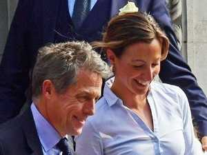 Hugh Grant's wife's bizarre bridal outfit