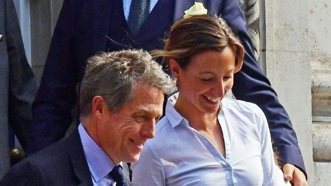 Hugh Grant and his girlfriend Anna Eberstein tied the knot. Picture: BACKGRID