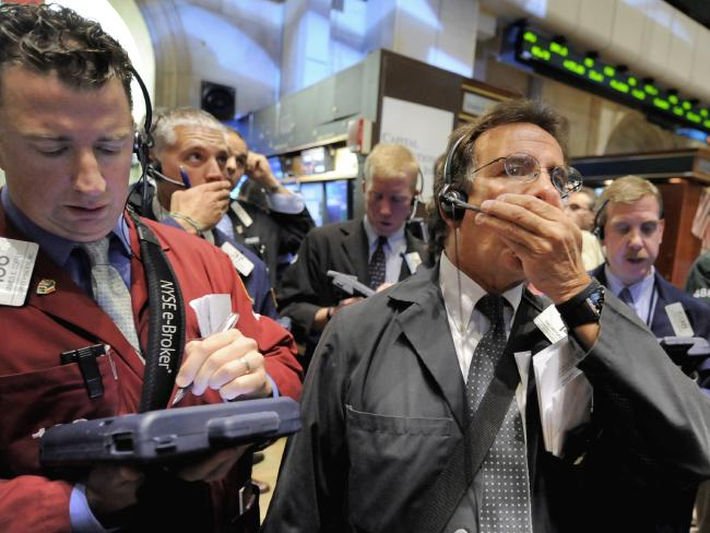 Traders on the New York Stock Exchange in 2008.
