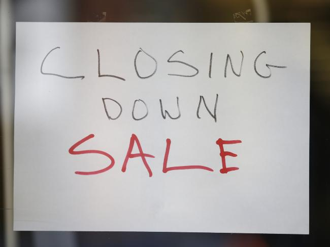 A wave of Australian retailers have gone under. Picture: David Caird