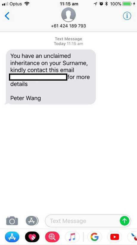 Several Toowoomba residents have recently received this scam text message