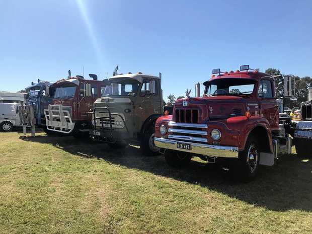 There were many rare and vintage trucks on display in Rocklea.