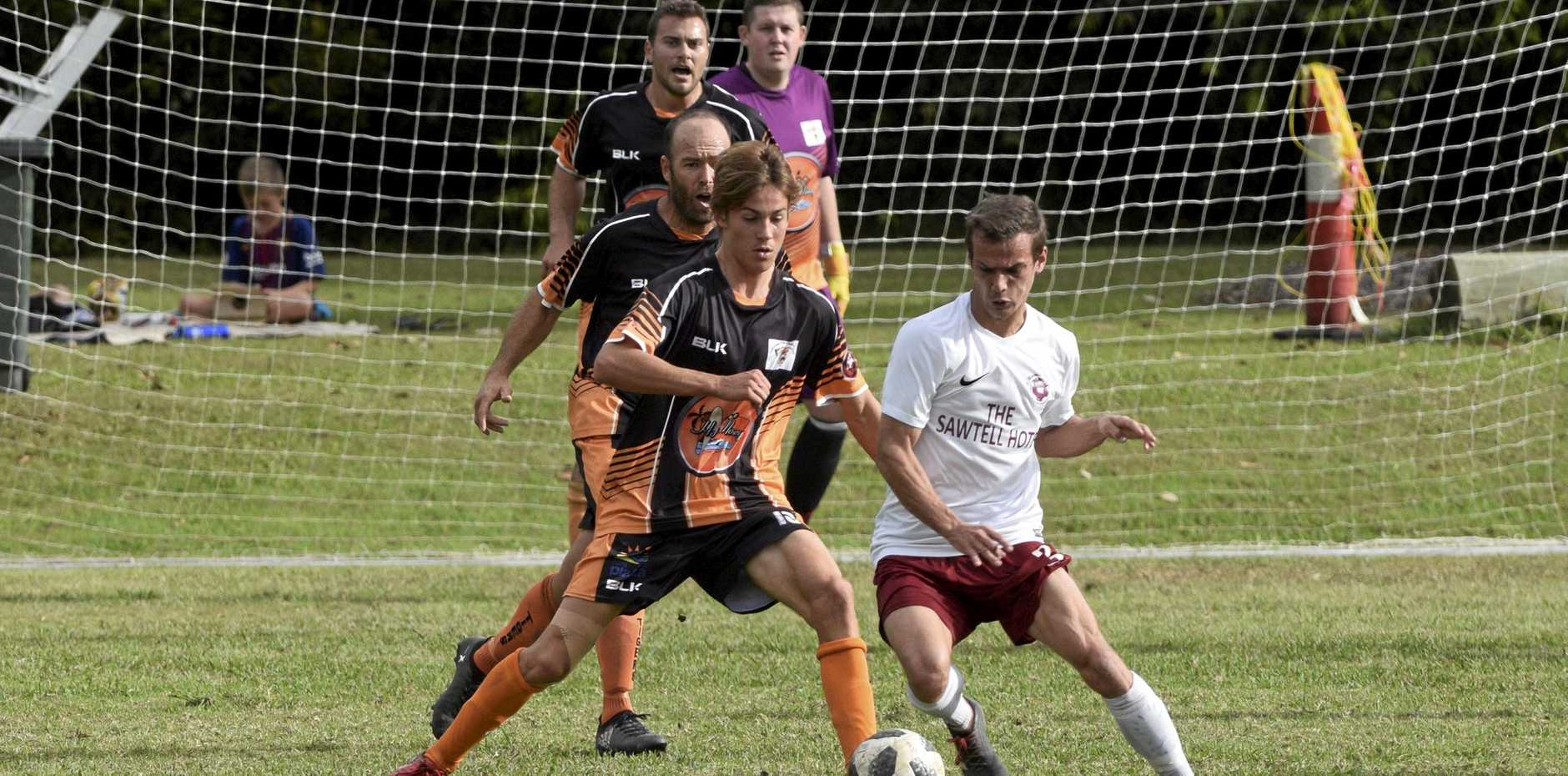 STILL ON TOP: Boambee recorded a strong Men's Premier League result at home against the Coffs Coast Tigers.