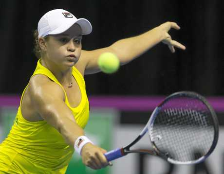 Tipped by many as a grand slam contender, Ashleigh Barty is going from strength to strength. Picture: Craig Golding/AAP