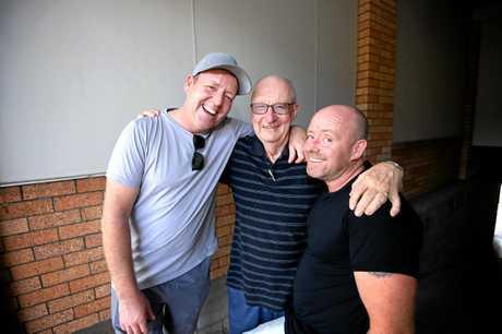 Shrek jnr at the civic centre David Rock, Peter Blyth and Brendan.