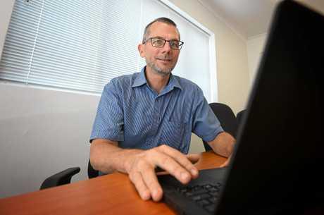 Councilor Dan Stewart in Gympie.