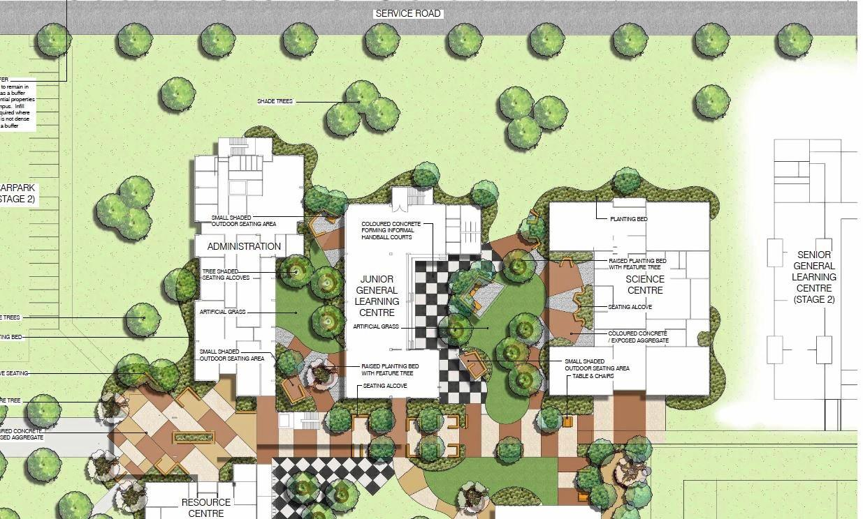 PROJECT PROGRESS: Site plans for the proposed Calliope High School.