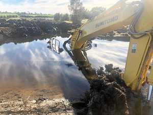 Bogged excavator