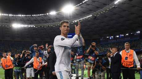 Real Madrid's Portuguese forward Cristiano Ronaldo applauds supporters after the UEFA Champions League final