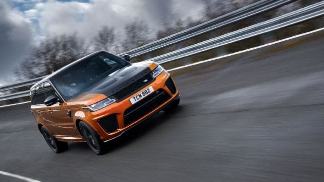 Sport SVR at Fen End: V8 is shared with jaguar F-Type