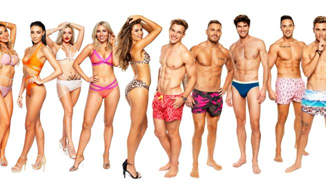 The Love Island Australia hopefuls. From left, Natasha, 24, beauty salon owner from Perth; Tayla, 21, beauty queen from Perth; Erin, 23, nurse from Melbourne; Cassidy, bartender, 23, from Melbourne; Millie, 24, doggy daycare worker from Sydney; Charlie, 22, international rugby player from Sydney; Eden, 25, prison officer from Sydney; Justin, 27, model from Melbourne; Grant, 22, electrician from C