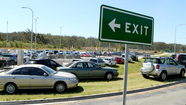 The overflowing carpark at Springfield Central Train station. IMAGE: Richard Walker