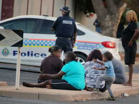Police station themselves outside some takeaway outlets in Alice Springs, to monitor sales. Picture: Gary Ramage/News Corp Australia