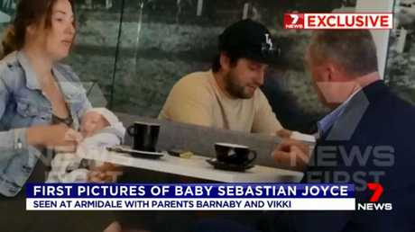 7 News ran a bulletin earlier this month featuring candid photos of the family at a cafe.