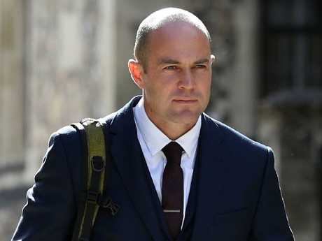 Army sergeant Emile Cilliers leaves Winchester Crown Court.
