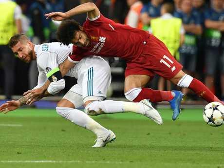 Sergio Ramos was accused of foul play.