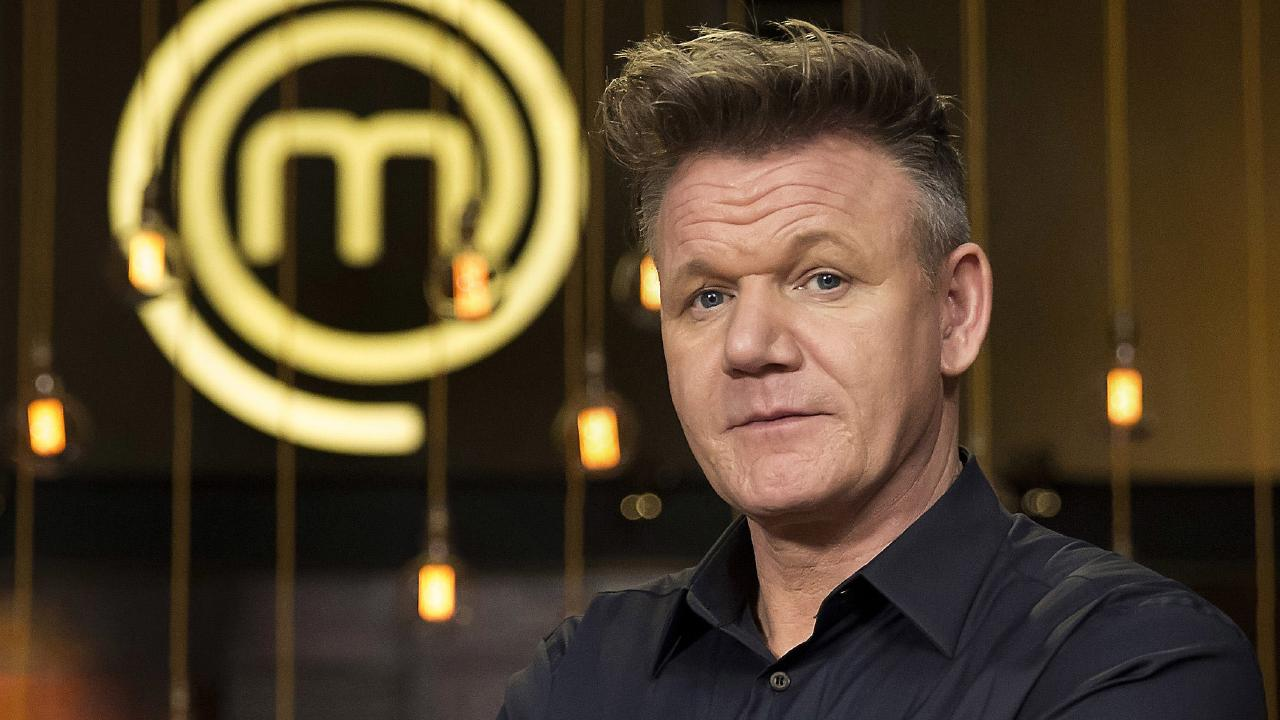 Gordon Ramsey's new hair made its Australian television debut on Sunday. Australia was in awe. Picture: Channel 10.