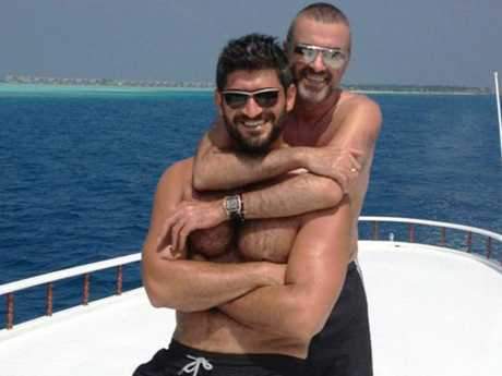 In happy times! George Michael and Fadi Fawaz. Picture: Twitter