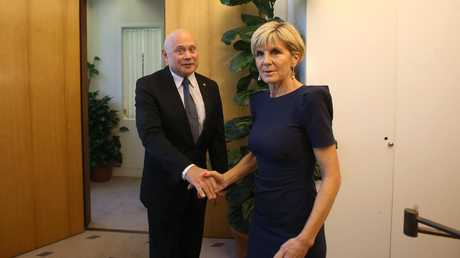 Russian Ambassador Grigory Logvinov slammed Foreign Affairs Minister Julie Bishop over the statement. Picture: Kym Smith