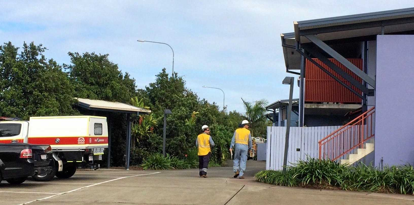 Three fire crews were called to a fire at a Blanck St unit block in Maroochydore this morning, where one person was evacuated.