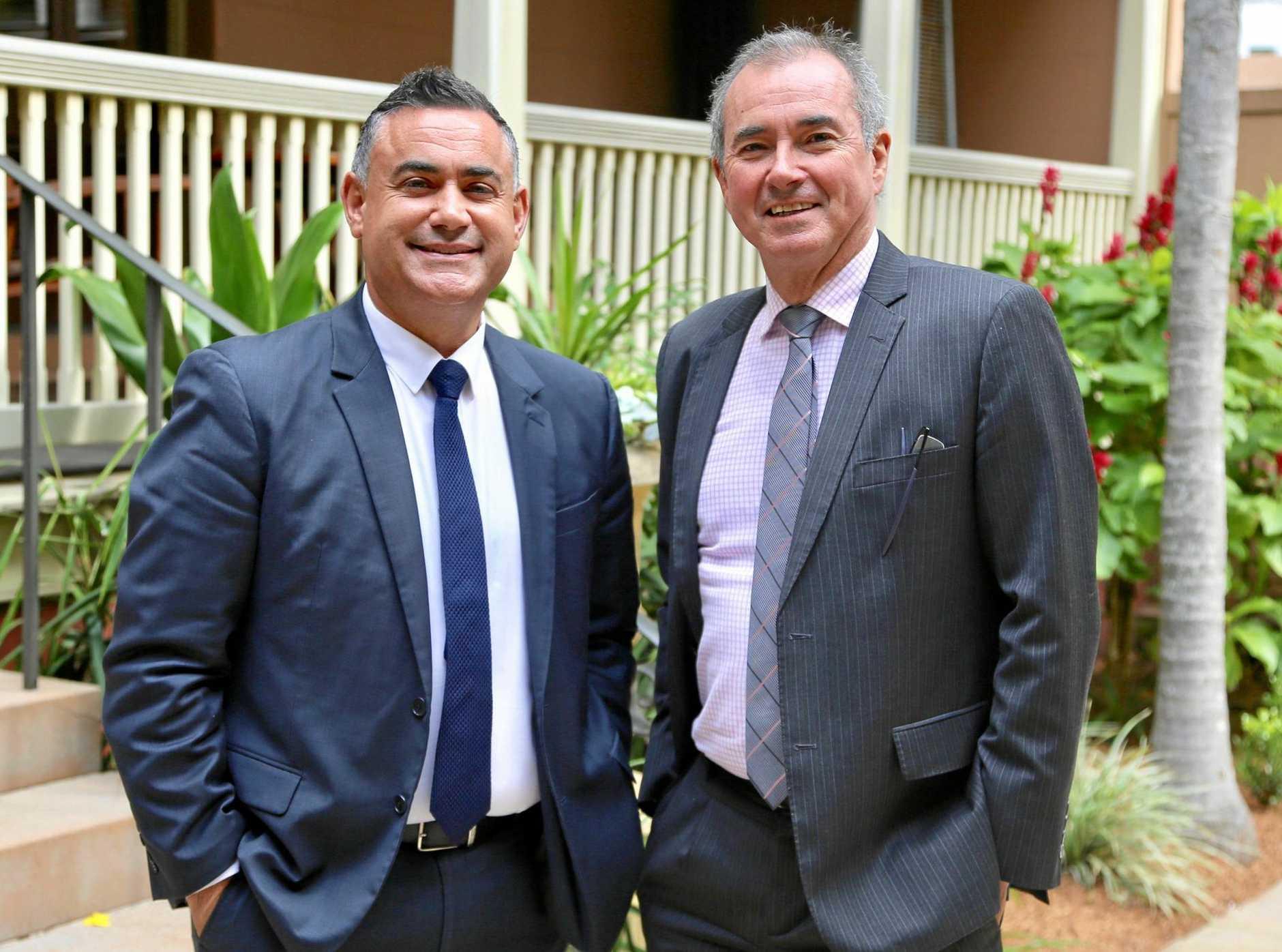 Deputy Premier John Barilaro and Member for Clarence Chris Gulaptis