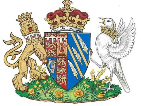 A Coat of Arms design created for The Duchess of Sussex. Picture: Kensington Palace/PA Wire via Getty Images