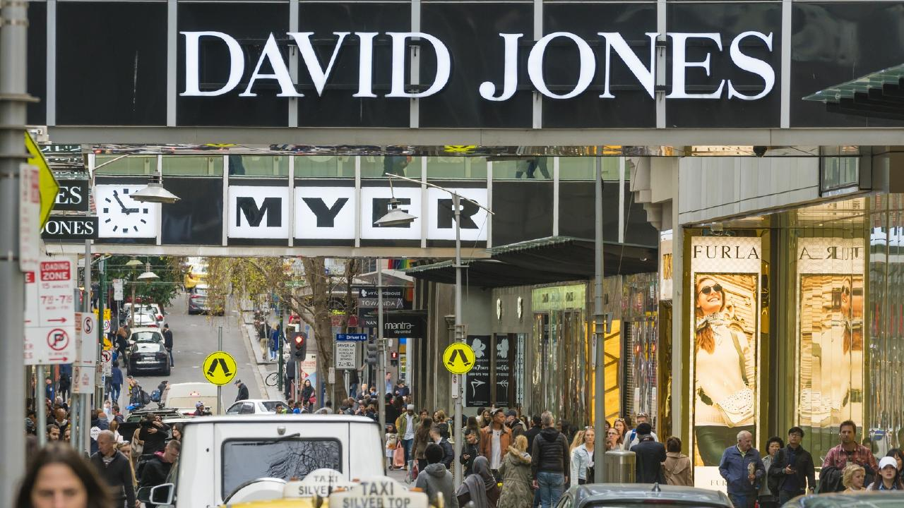 Myer and David Jones have kicked off simultaneous sales.