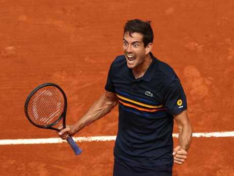 Guillermo Garcia-Lopez celebrates his win.