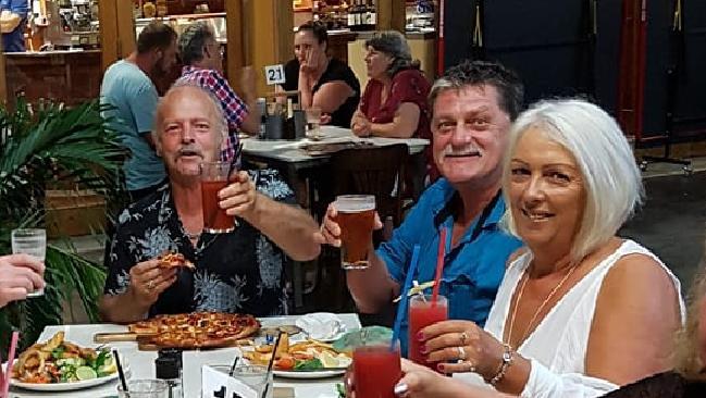 Peter Koenig, Greg Roser and Sharon Graham at dinner.