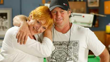 Actors Cornelia Frances and Peter Phelps.