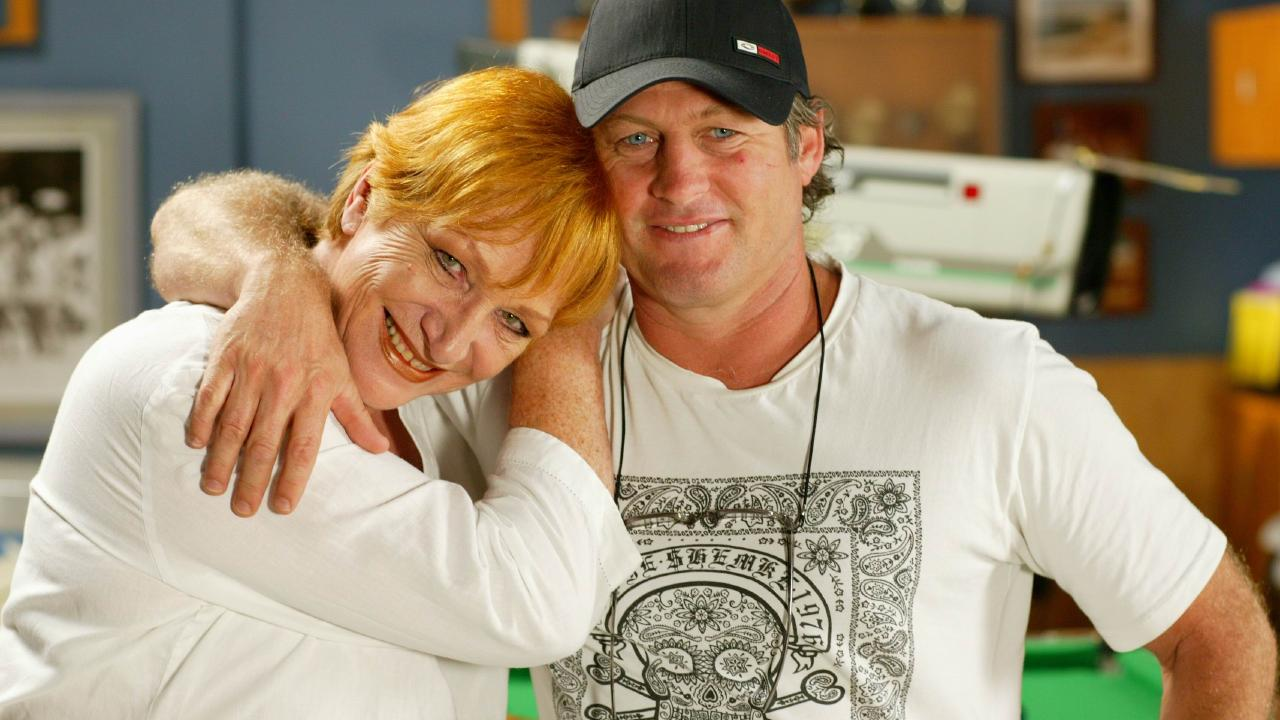Actors Cornelia Frances and Peter Phelps.