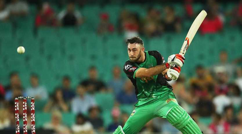 StarsÕ Glenn Maxwell cuts during Big Bash League match between the Sydney Sixers and Melbourne Stars at the SCG. Picture. Phil Hillyard