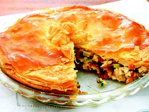 Recipe: Hearty chicken pie to warm up the weekend