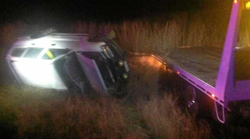 A car rolled on Tuesday night in Stanwell leaving one man hospitalised.