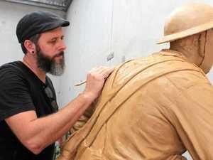 War memorial sculptures take shape