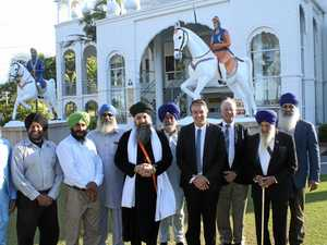 Visitors engage with Sikh community