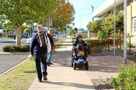 DID YOU KNOW: People on mobility scooters must keep left on footpaths and drive on the right side of the road. They must wear a helmet and cannot use a mobile phone while driving.