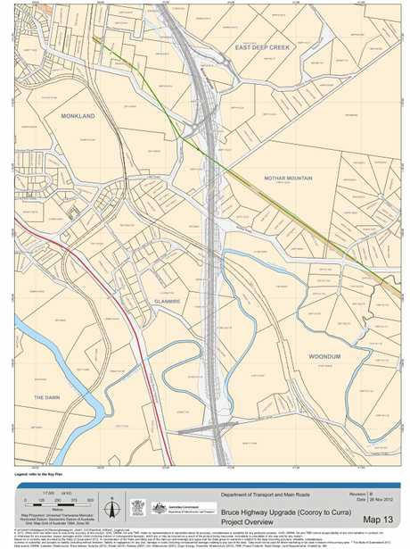 Bruce Highway Upgrade (Cooroy to Curra) project overview: map 13