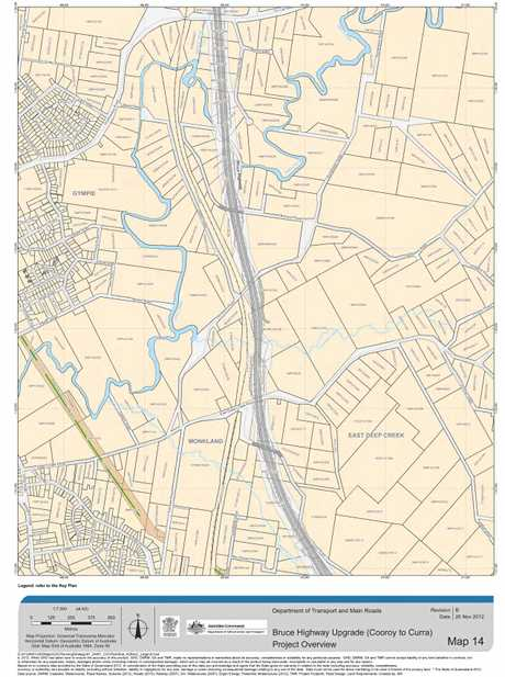 Bruce Highway Upgrade (Cooroy to Curra) project overview: map 14