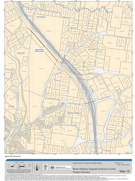 Bruce Highway Upgrade (Cooroy to Curra) project overview: map 15