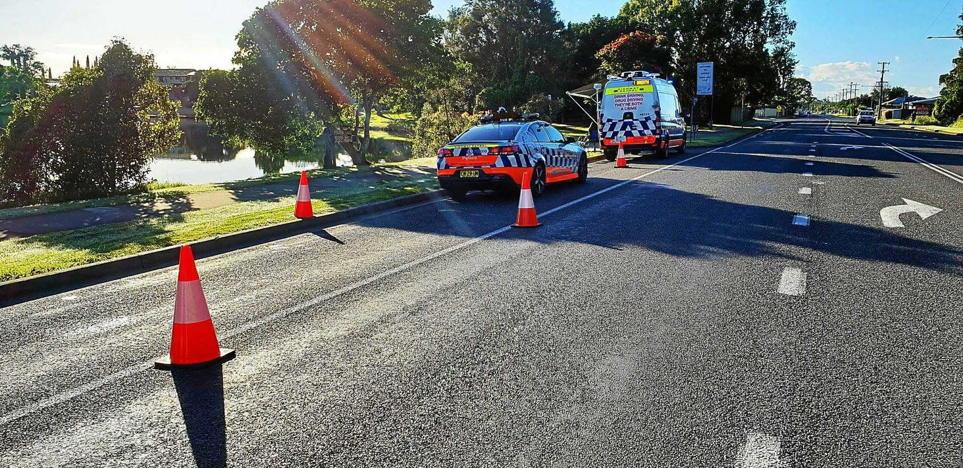 Police conducting drink and drug testing on the Lower Clarence