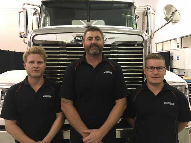 Brodie Martin - Daimler Trucks Adelaide, Adrian Hays -Trucks and Trailers Auckland, Cameron Nicol - Trucks and Trailers Auckland